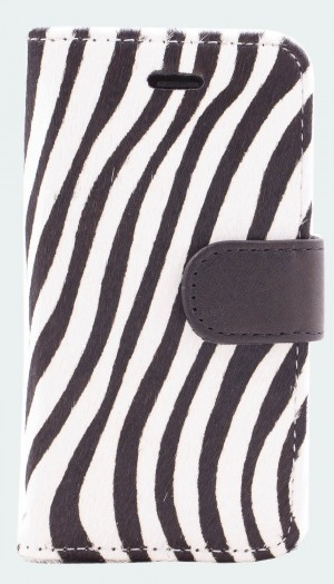 Leren zebra iPhone 5 bookcase