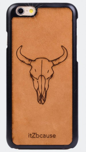 iPhone 6 hardcover leer stier