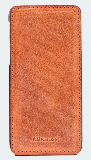 iPhone 7 flipcase cognac